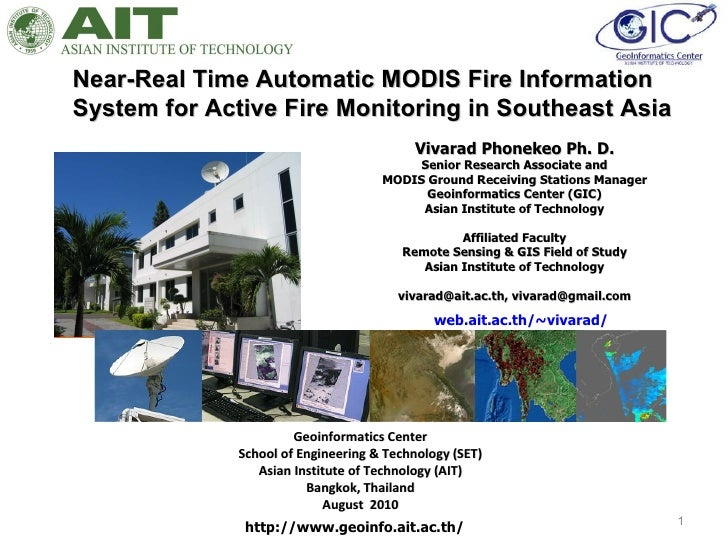 Near real time automatic modis fire information
