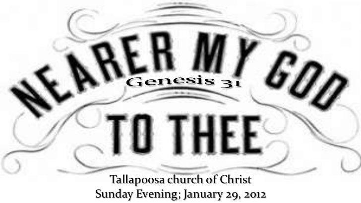 Tallapoosa church of ChristSunday Evening; January 29, 2012