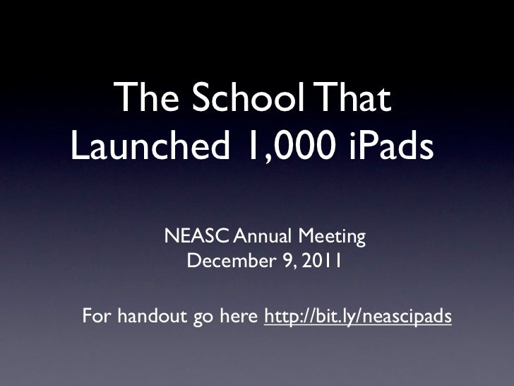 Neasc annual meeting