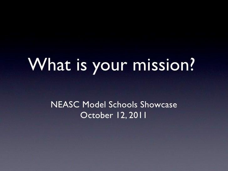 Neasc model schools showcase