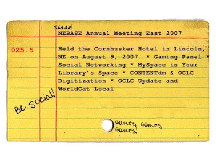 NEBASE Annual Meeting East 2007 intro slides