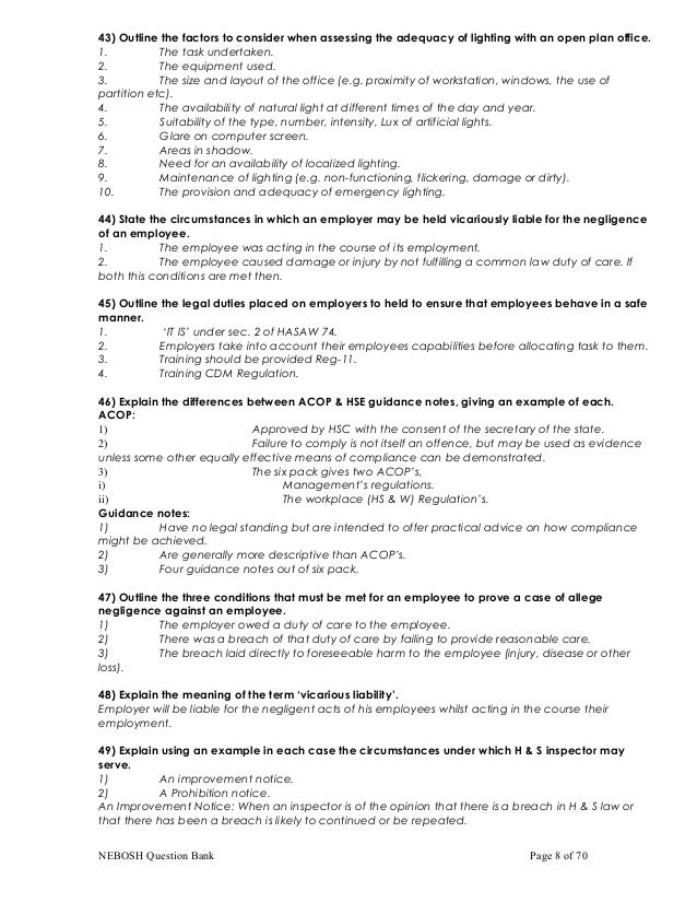 nebosh igc practical assessment report sample Of workplace hazards and the practical application of this knowledge the course will prepare participants for the nebosh igc assessment of a workplace and report.