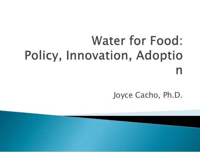 Joyce Cacho, Ph.D.