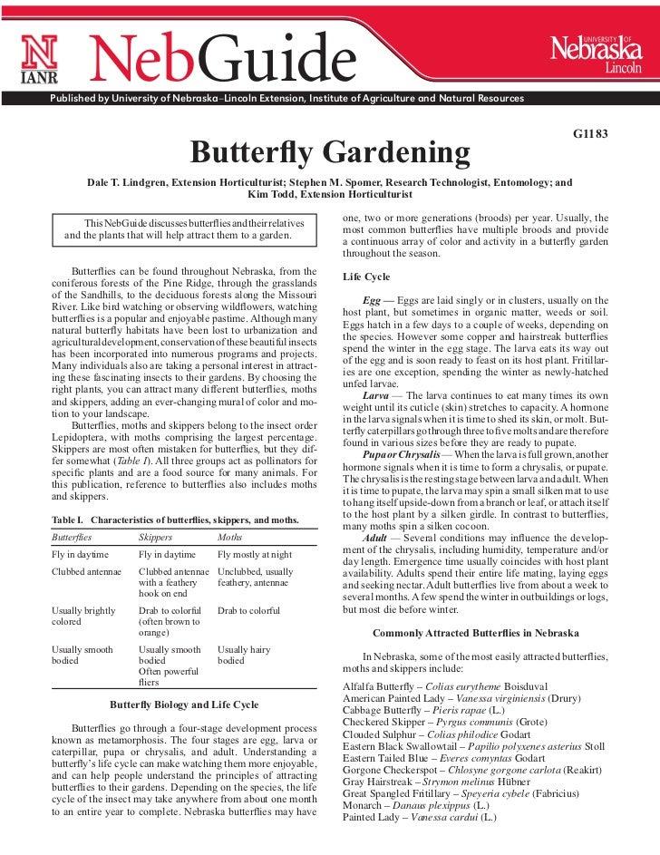 NE: Butterfly Gardening