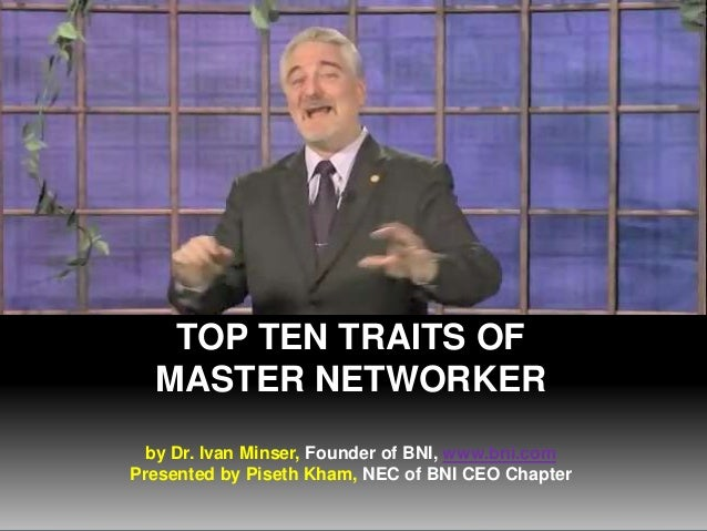 Top 10 Traits of Master Networkers