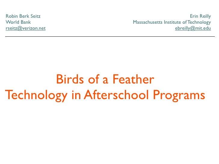 NECC 2009 Afterschool Programs