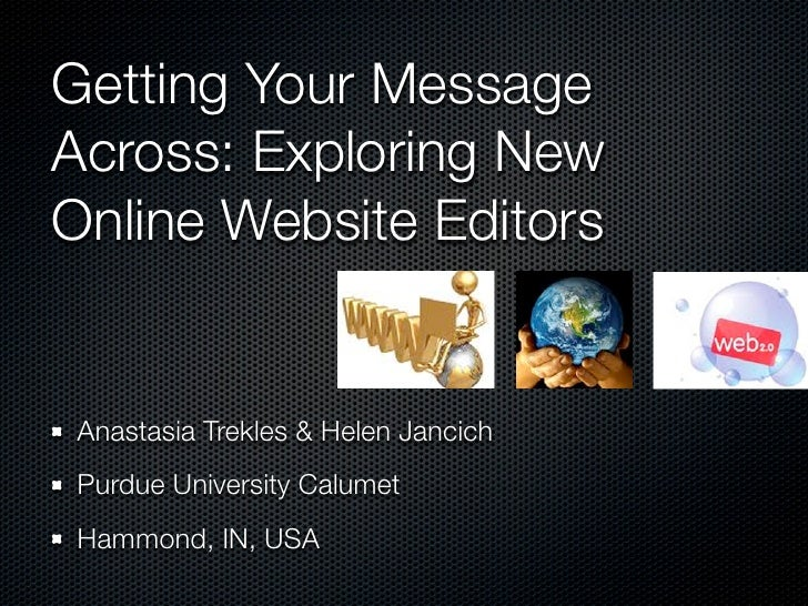 Getting Your Message Across: Exploring New Online Website Editors