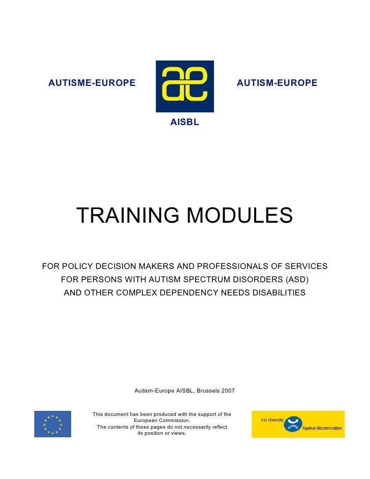 AUTISME-EUROPE                                                    AUTISM-EUROPE                                       AISB...