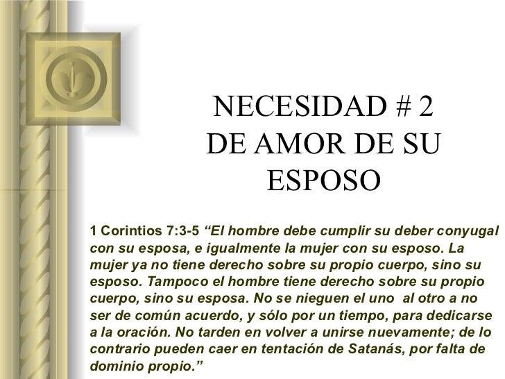 Matrimonio De Acuerdo Ala Biblia : Necesidad no esposo sexualidad