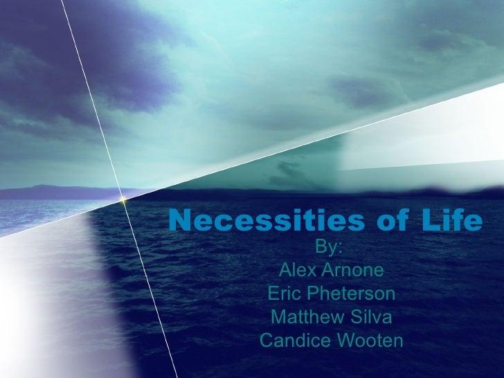 Necessities of Life