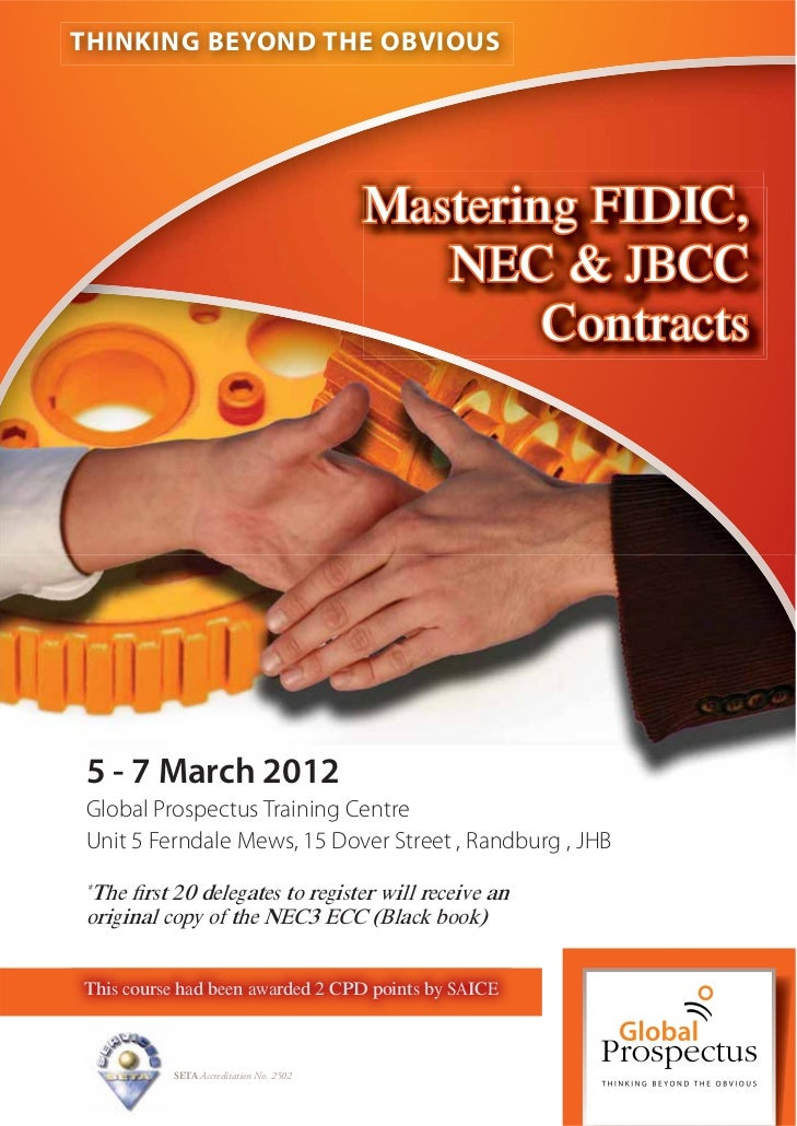 THINKING BEYOND THE OBVIOUS                                        Mastering FIDIC,                                       ...