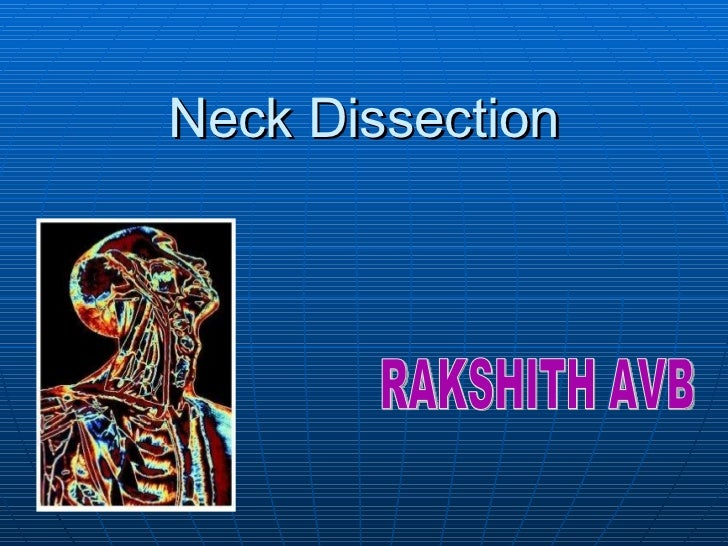 Neck Dissection RAKSHITH AVB