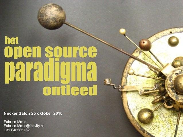 Het Open Source Paradigma Ontleed