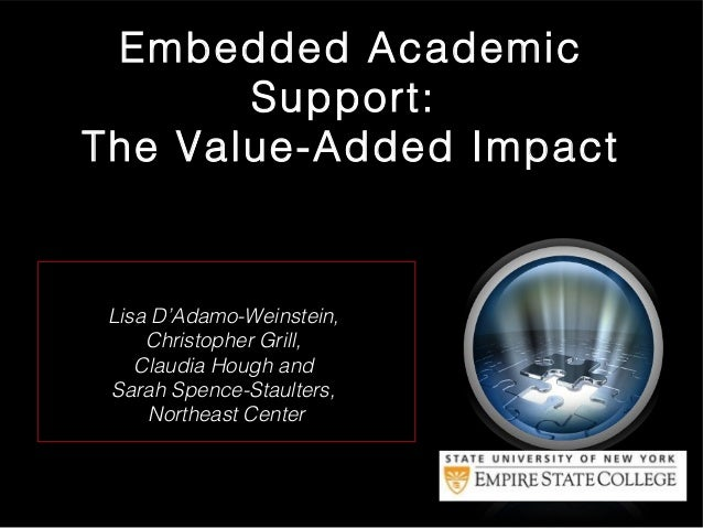 Embedded Academic Support: The Value-Added Impact  Lisa D'Adamo-Weinstein, Christopher Grill, Claudia Hough and Sarah Spen...