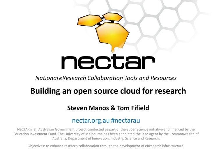 Nectar openstack 2012 v3