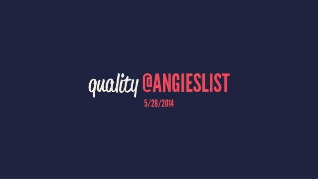 quality @angieslist