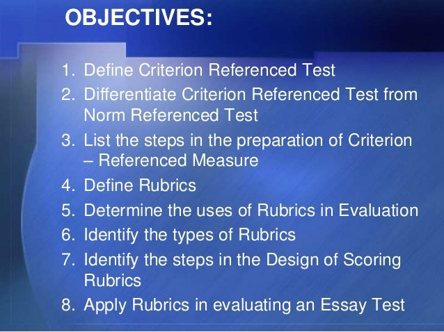 comparing norm and criterion referenced tests Norm-referenced refers to standardized tests that are designed to compare and rank test takers in relation to one another norm-referenced tests report whether test takers performed better.