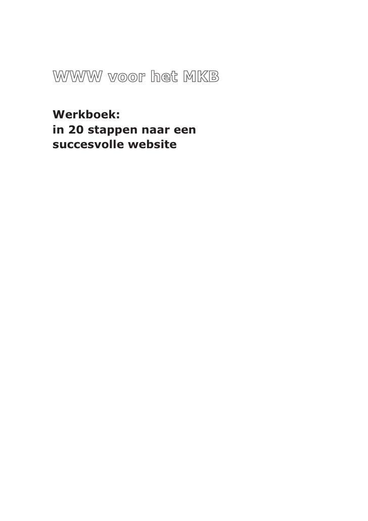 Werkboek:in 20 stappen naar eensuccesvolle website