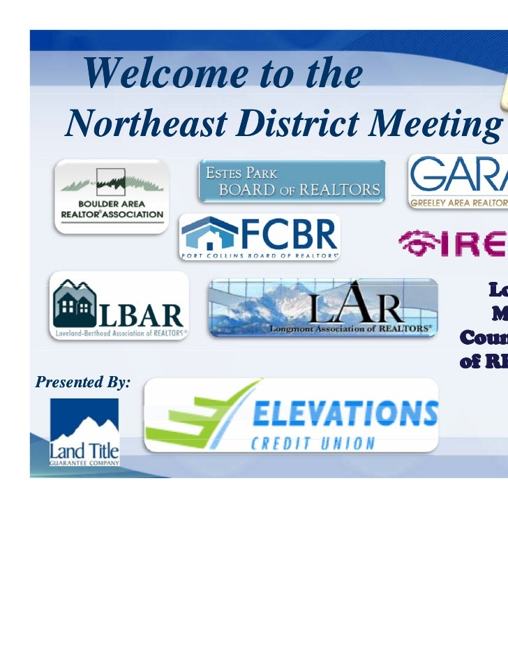Welcome to the    Northeast District Meeting                              Logan                              L g &        ...