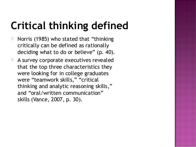 the meaning of critical thinking