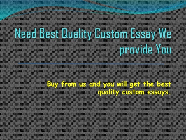 Buy A Custom Essay