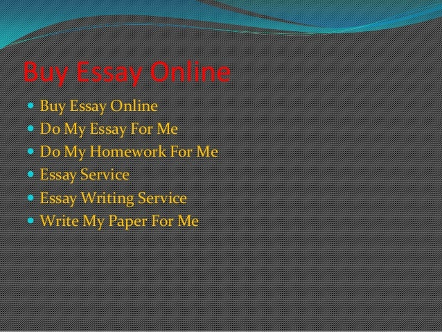 I want to buy an essay