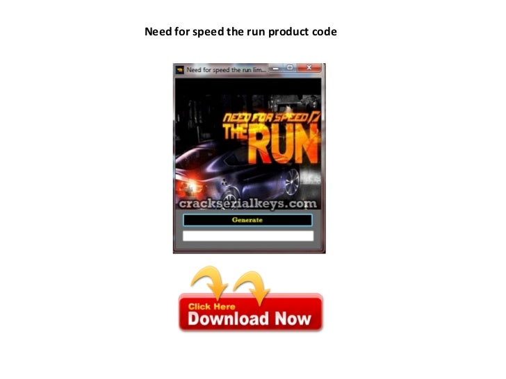 Need for speed the run product code