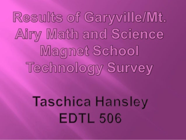    Based on the results of the Technology survey, I would offer small group    training on the Edline program and Voice t...