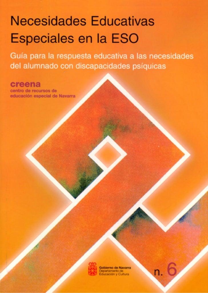 primeras   7/9/99 17:14   P‡gina 1                Necesidades Educativas Especiales                           en la ESO   ...