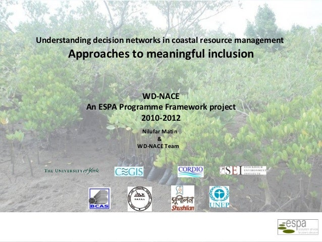 Understanding decision networks in coastal resource management        Approaches to meaningful inclusion                  ...