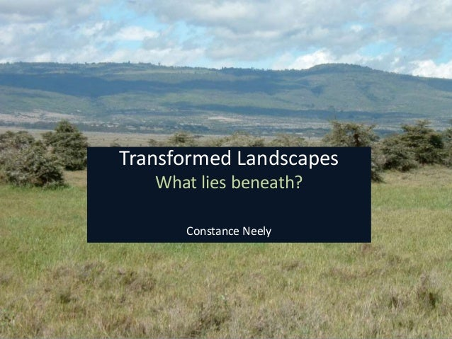 Transformed Landscapes What lies beneath? Constance Neely