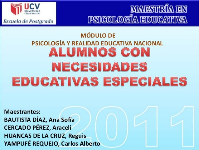 Ne esidades educativas especiales