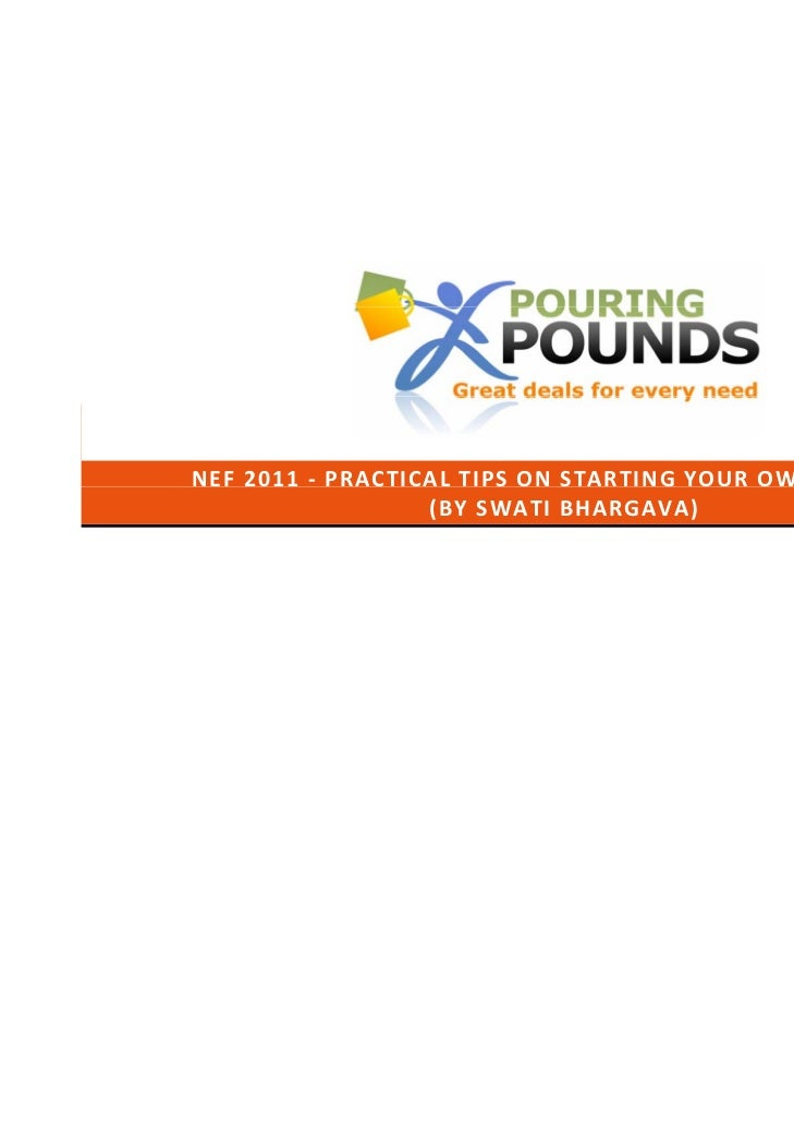 Nottingham Entrepreneurship Forum 2011 - Pouring Pounds