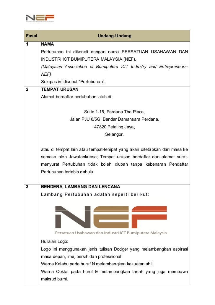 NEF Constitution 2nd Revision