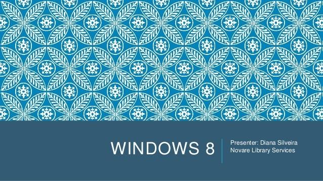 Intro to Windows 8