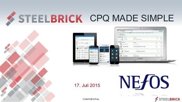CONFIDENTIAL 17. Juli 2015 1 CPQ MADE SIMPLE