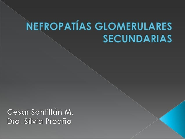Nefropatías glomerulares secundarias