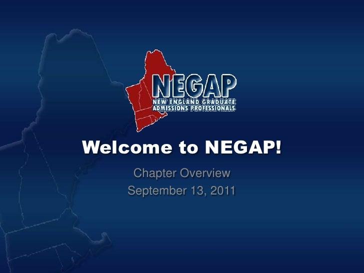 Overview of NEGAP Webinar Presentation - 9/13/2011