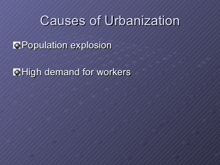 urbanization and its effects on welfare essay Cities and the health of the the urban social environment and its effects on health tuberculosis, aids, and death among substance abusers on welfare in.