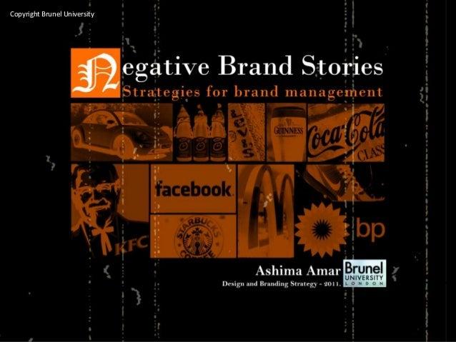 Negative brand stories
