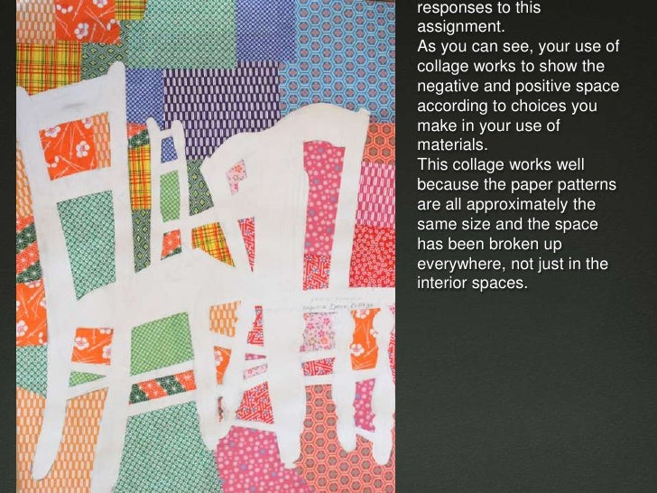 These are examples of CR responses to this assignment. As you can see, your use of collage works to show the negative and ...