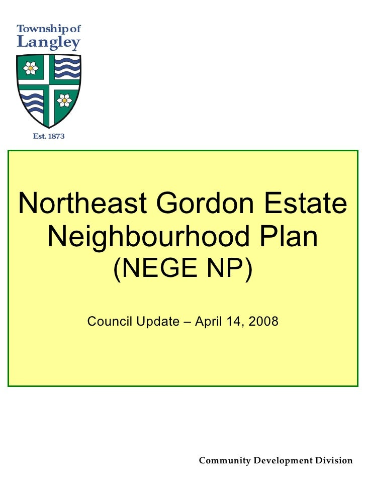 Northeast Gordon Estates NCP