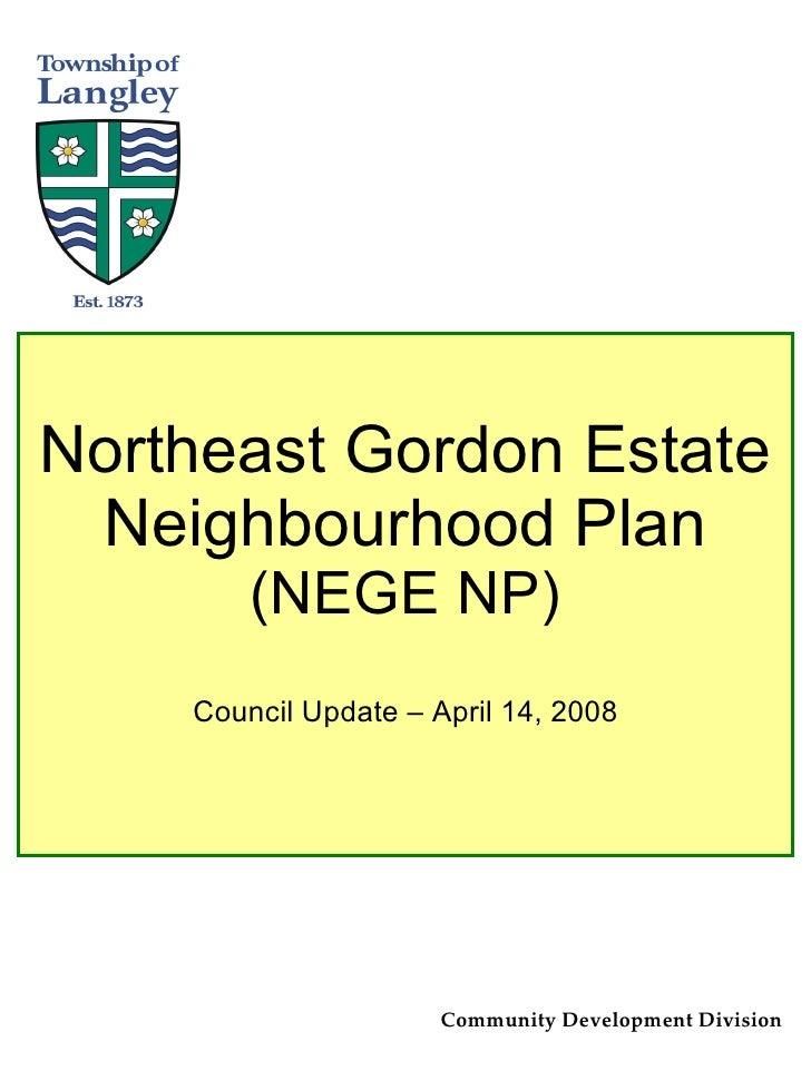 Northeast Gordon Estates NCP