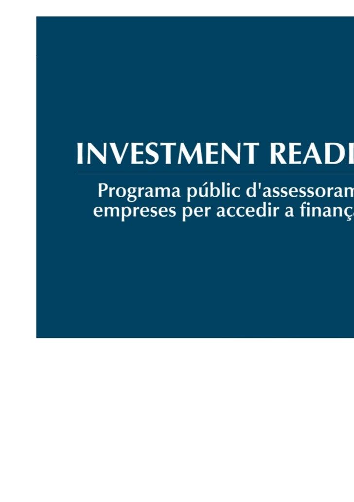 El proceso de Negociación con los inversores         Discusión sobre los aspectos más importantes del proceso           de...