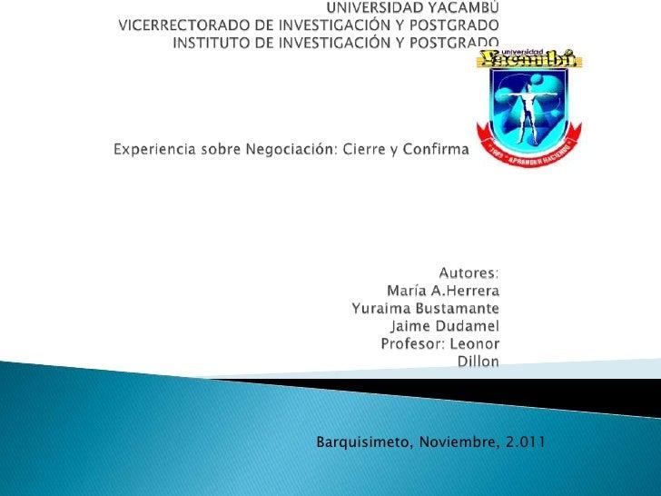 Barquisimeto, Noviembre, 2.011