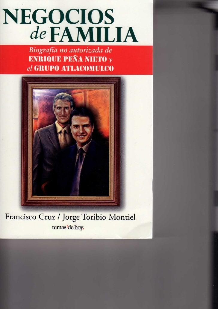 Negocios de Familia, Biografía no autorizada de Enrique Peña Nieto