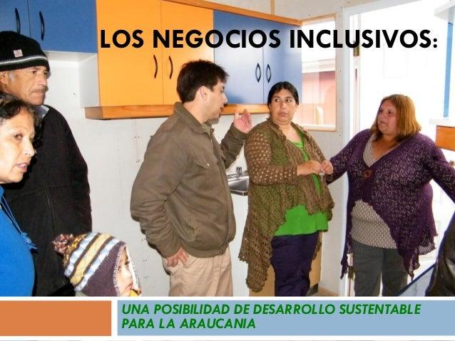 LOS NEGOCIOS INCLUSIVOS: UNA POSIBILIDAD DE DESARROLLO SUSTENTABLE PARA LA ARAUCANIA
