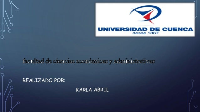 REALIZADO POR: KARLA ABRIL