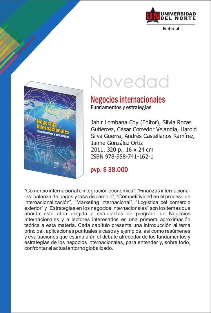 Novedad                             Negocios internacionales                              Fundamentos y estrategias       ...