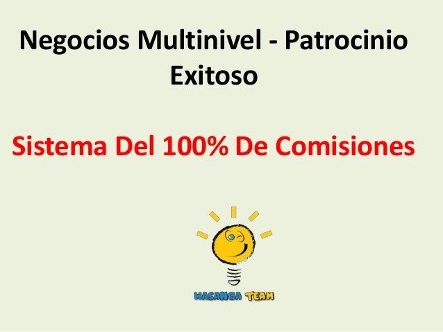 Negocios multinivel   patrocinio exitoso-wasanga 100%